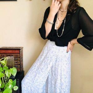 ⌈Vintage ⌋ Karavan Floral Wrap Skirt